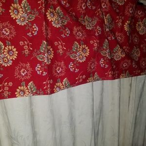 """Better Homes And Gardens Accents - 2 Blouson Valances 78""""W x17""""H Each"""